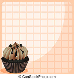 A stationery with a mouth-watering cupcake - Illustration of...