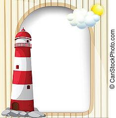 A lighthouse and the empty template - Illustration of a...