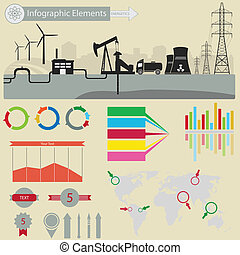 Infographic elements - Infographic elements. Energetics. For...