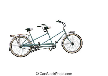 Retro tandem bicycle - Retro Tandem Bicycle isolated on...