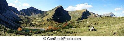 Mountain lake in the Allgaeu Alps - The Tannheim Mountains...