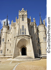 Palacio episcopal - Facade of palacio episcopal of Astorga...