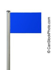 signpost in blue