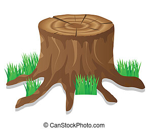 stump vector illustration isolated on white background