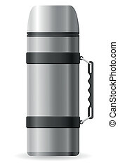 thermos vector illustration isolated on white background