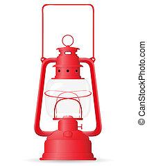 kerosene lamp vector illustration