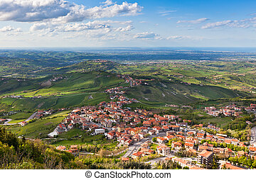 Modern San Marino Suburban districts view from above -...