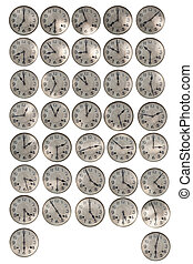 time of clock around world isolated white