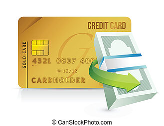 credit card purchasing limit concept illustrations design...