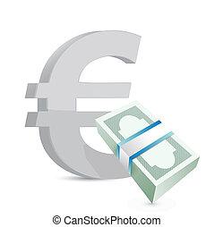 euro currency bills exchange