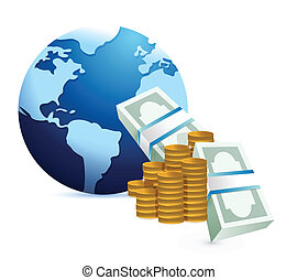 monetary international concept illustration design over a...