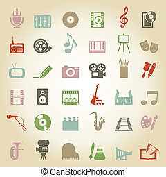 Art icon3 - Set of icons on a theme art A vector...
