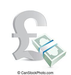 british pound currency bills exchange concept
