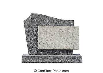 single grave stone cut out Clipping path