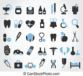 Medicine5 - Set of icons on a theme medicine. A vector...