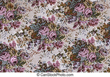 old-fashioned rose tapestry - Rose design on old tapestry.