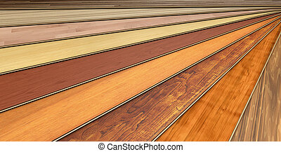 wooden laminated construction planks