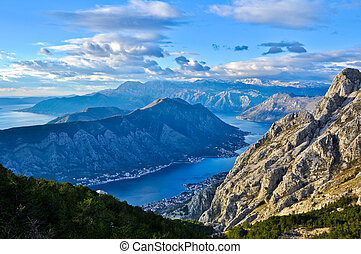 Kotor Bay - Aerial view of Kotor Bay
