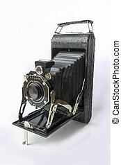 Vintage camera - Old-fashioned film camera from the golden...