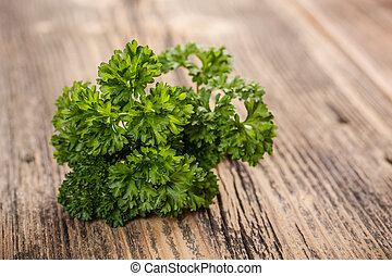 Curly parsley - Bunch of fresh green curly parsley
