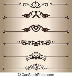 Decorative lines - Elements for design - decorative line...