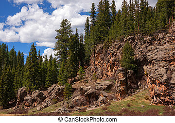 Treasures of New Mexico - Alpine rock formation in New...