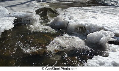 creek cataract ice winter - wondeful wild creek cataract...
