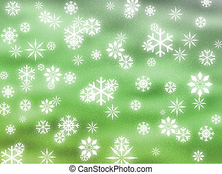 Snowflakes in the sky - Snowflakes falling to represent...