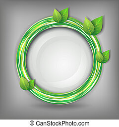 Eco abstract background with leaves - Eco abstract creative...