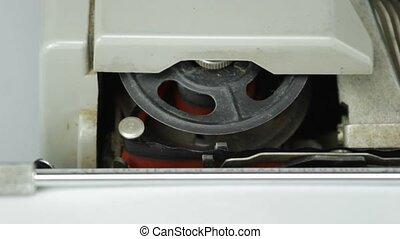 tape wheel old typewriter