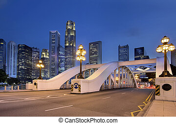 Singapore Skyline by Elgin Bridge - Singapore Central...