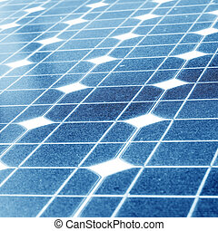 Solar silicon - Outdoor solar power installed in the device...