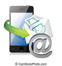 business online payment concept illustration design over a...