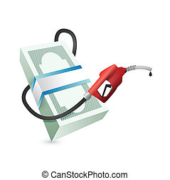 gas prices concept illustration