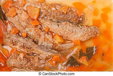 juicy snack a roast pickled smelt with carrots
