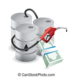 oil prices and business economy illustration design over...