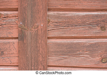 Close up of red barn wall - Macro of a red barn wall, can be...