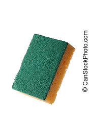 Household scourer isolated against a white background