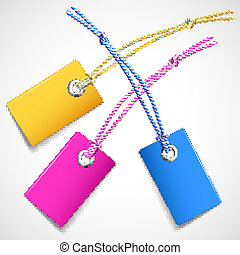 Colorful price tags - Illustration of colored price tags on...