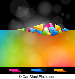 Abstract design in bright colors - Abstract background for...