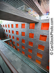 modern architecture - modern design building with...