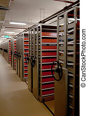 archive - modern underground archive with video materials