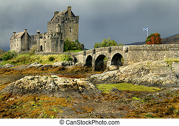 donan, Eileen, castelo, Escócia