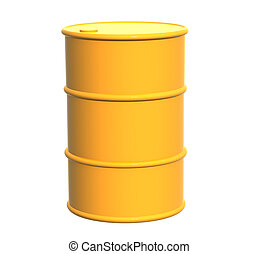 Tank of yellow color Object over white
