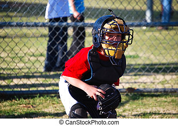 Little baseball catcher - Lilttle league baseball catcher...