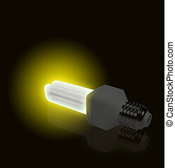 Yellow Light from economical lamp - The Yellow Light from...