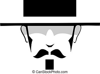 gambler - A simple drawing of the head of a gambler with...