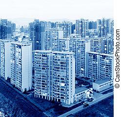 apartment building at night - Hong Kong apartment at night