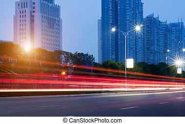 Urban Landscape - Modern urban landscape at night