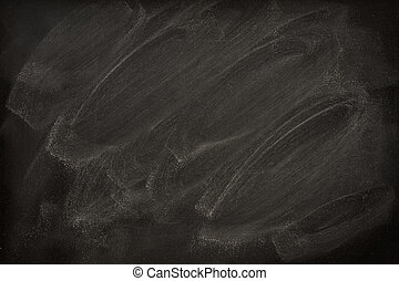 blank blackboard with chalk smudges